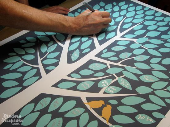 how to create tree guestbook