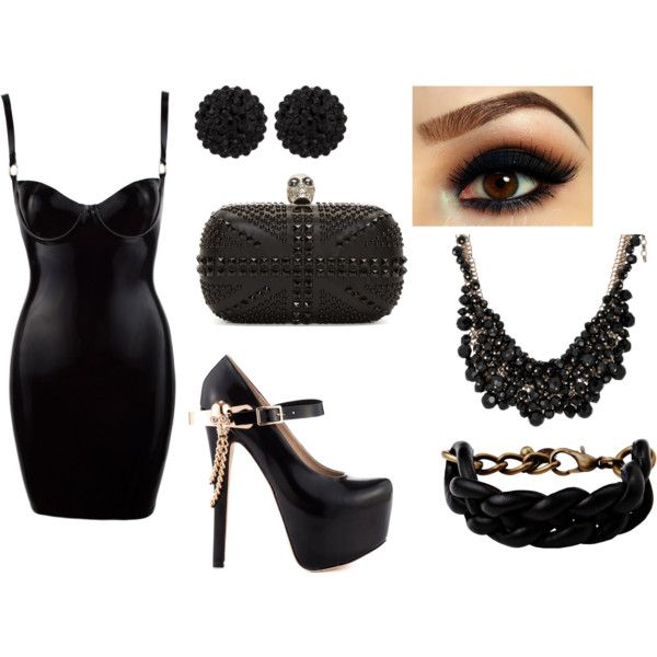 alternative style by elecktra94 on Polyvore featuring ZiGiny, Alexander McQueen, Malababa and sweet deluxe