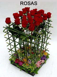 La jaula de las rosas rosas en estructura de bamb y - Jardin de bambu talavera ...