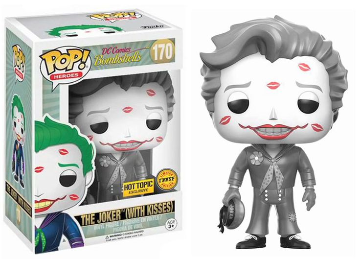 Pop! Heroes - DC Comics Bombshells - The Joker (with Kisses) [Limited CHASE Edition: B&W]