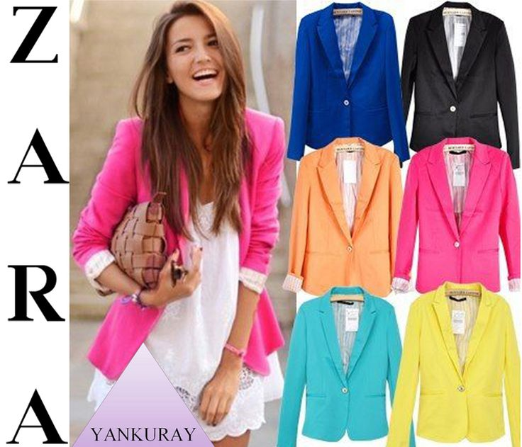 Blazer ZARA, Primavera/Verano 2014.-: Fashion, Candy Colors, Style, Button, Jackets, Suits, Blazers, Women, Coat