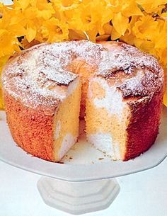 Recipe: Mccall's Best Daffodil Cake (marbled lemon sponge cake and angel food cake, 1970's) - Recipelink.com