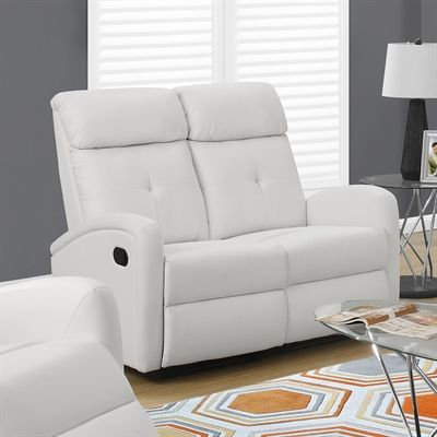 Monarch Specialties I 88 Bonded Leather Reclining Loveseat