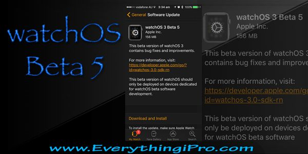 watchOS 3 Beta 5 is OUT And how to install watchOS 3.0