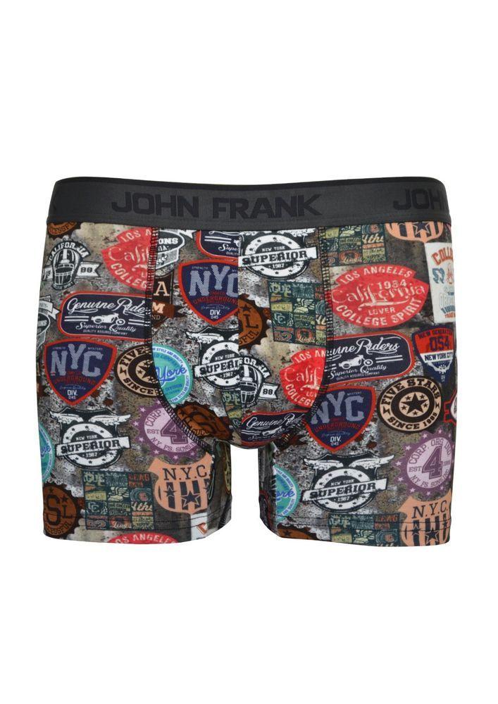 John Frank Digital Printed Ultra Premium Cotton Men's Boxer NYC Retro Signs #JohnFrank #Boxer