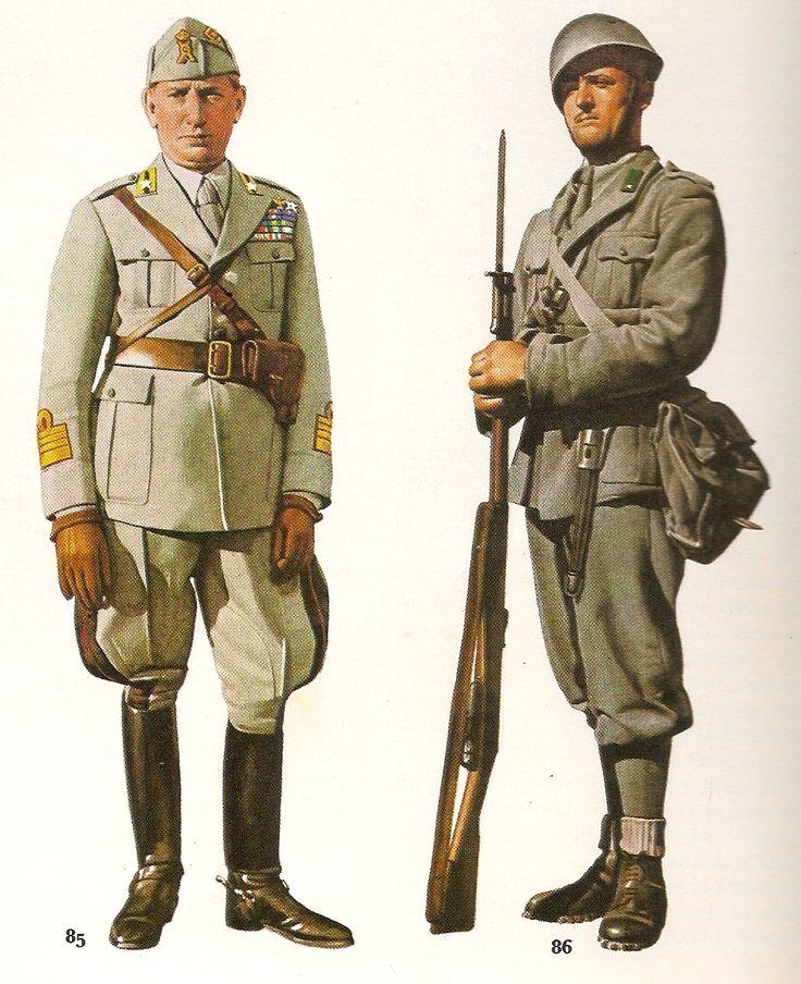 Regio Esercito - Nº 85 Ufficiale di Fanteria, 1940 - 86 Soldato scelto di…