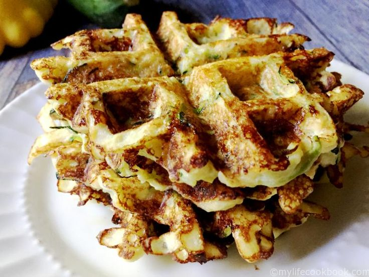 These savory Zucchini Waffles are low carb, Paleo, and gluten free. Great for breakfast or even a snack!