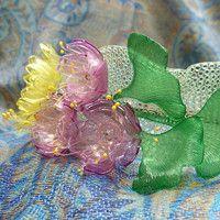 plastic bottles jewelry .. sakura... ginko.. japan