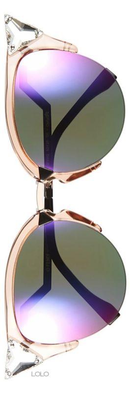 Fendi Crystak 52mm Tipped Cat Eye Sunglasses | LOLO