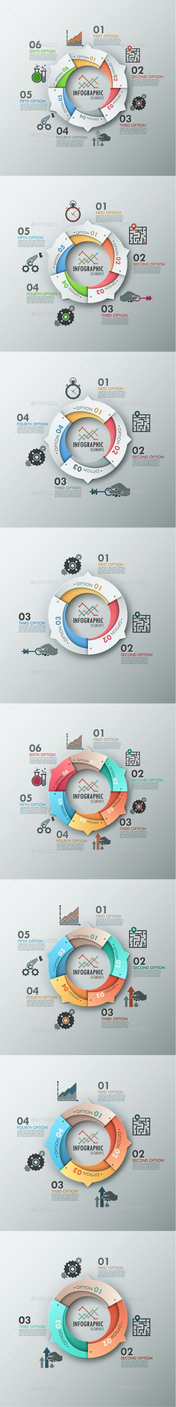 Modern Infographic Options Banner (8 Items) Template #design Download: http://graphicriver.net/item/modern-infographic-options-banner-8-items/9107740?ref=ksioks