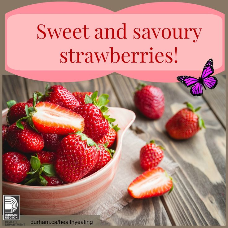 Strawberries are in season in June and July. It's a great time to buy them when they are freshest and taste best! Take a look at this great resource. It provides ideas on how to pick and prepare different veggies and fruit and also includes great ideas on how to help children enjoy more every day!