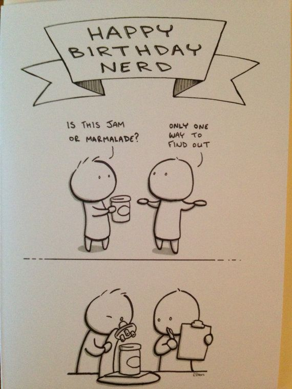 Funny Birthday Greeting Card - Happy Birthday Nerd! Looking for a ...