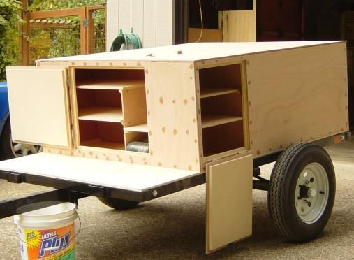 If you want your new home-built camping trailer ready for the first signs of Spring, you better get working on it :) Here is a high-level overview on building an Explorer Box    http://compactcampingconcepts.com/ExplorerBoxOverview.htm