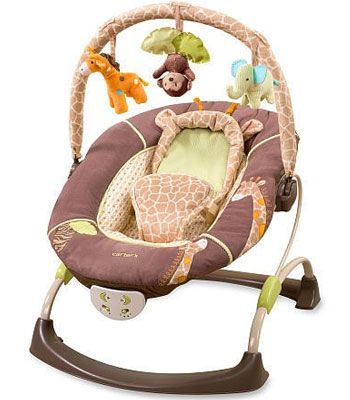 Buy your Carter's Cuddle Me Musical Bouncer Wild Life from Kiddicare Bouncers, Rockers and Swings| Online baby shop | Nursery Equipment