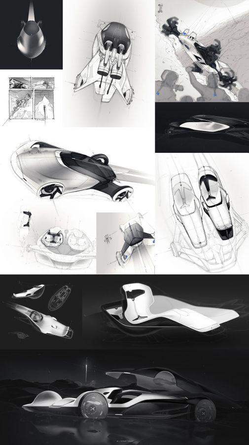 Sydney Hardy – SX0001 - car sketch, #sketch