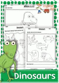 Free Dinosaur Worksheets
