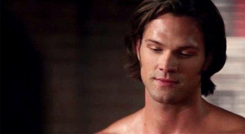 Jared Padalecki Sam Winchester Supernatural GIF shirtless