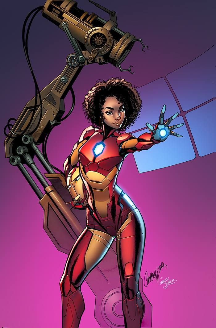 Invincible Iron Man #1 variant cover by J. Scott Campbell, colours by Marte Garcia *