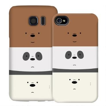 Grizzly, Panda, and Ice Bear all in one! This phone case features all three loveable bears from the animated television series, We Bare Bears.