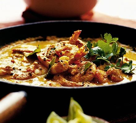Kerala (India) Prawn Curry - One of my favourite..    Warm up the coldest day with a creamy coconut milk curry - it's got quite a kick!