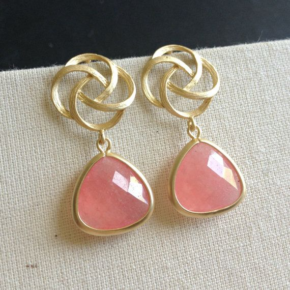 Pink Bridesmaids Gift Coral Wedding by anatoliantaledesign on Etsy, $27.00