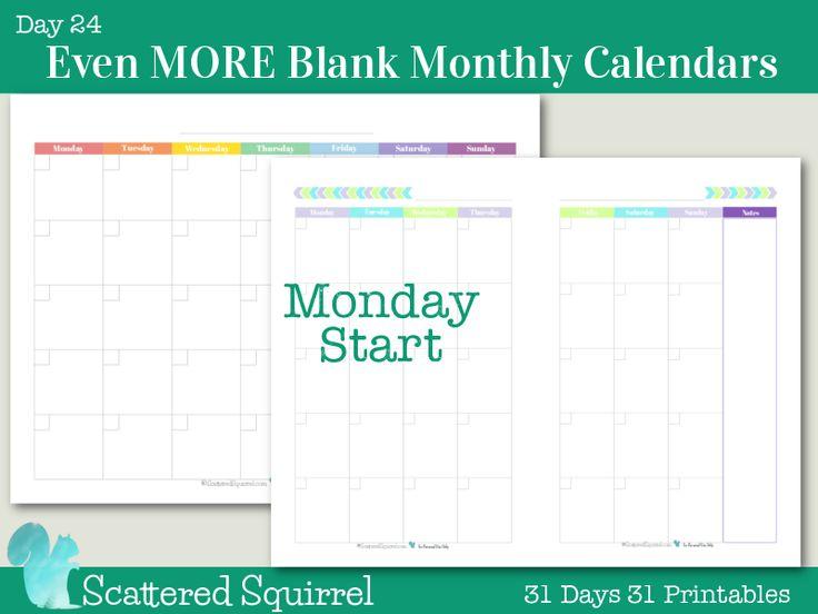 Best 25+ Blank monthly calendar ideas on Pinterest Free - sample monthly calendar