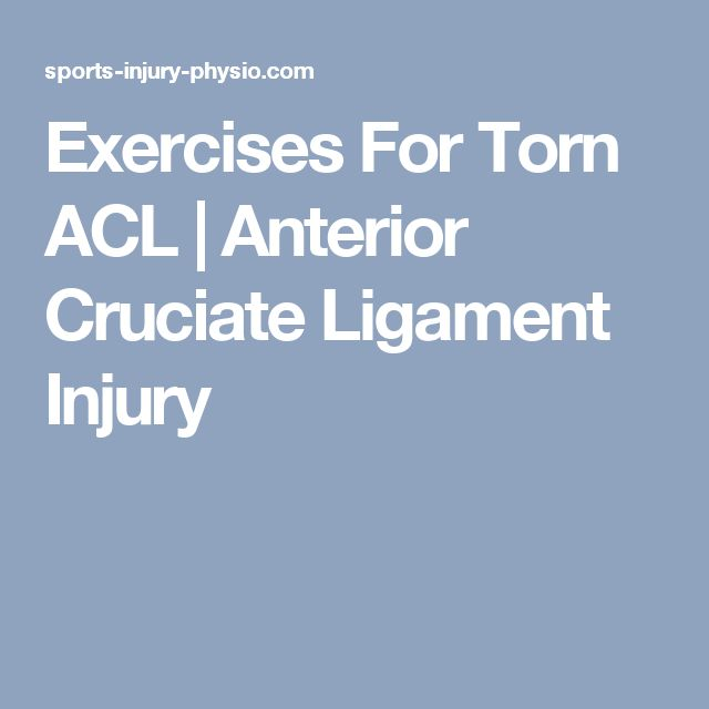 17 Best Ideas About Acl Tear Recovery On Pinterest Knee Injury Treatment Knee Strengthening
