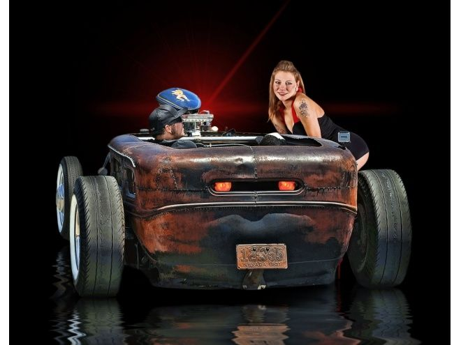 hot rods with sexy girls