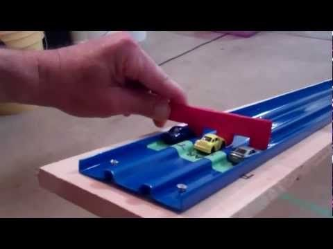 ▶ How to build a portable pinewood derby track ramp for cub scout recruitment and outreach - YouTube