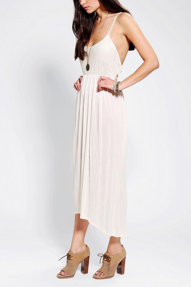 White lace apron wedding - Kimchi Blue Lace Apron Front Slip