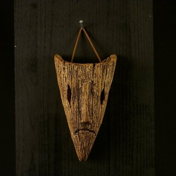 a Ceramic mask, made by Juri Etto, sold on Etsy. Ceramic, Stoneware, Sculpture, wood spirit