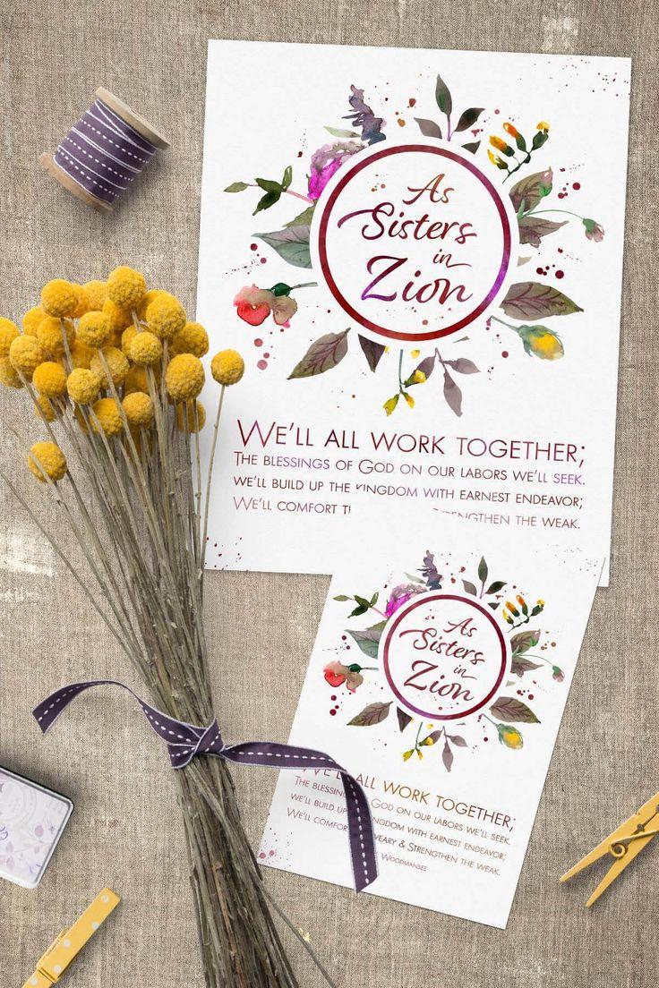 September 2017 Visiting Teaching Printable Handout Sisters in Zion www.TeepeeGIrl.com