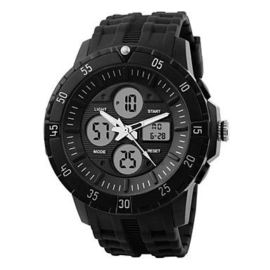 SKMEI® Men's Double Time Sporty Watch Calendar Chronograph Alarm Cool Watch Unique Watch Fashion Watch 2921505 2017 – $12.99