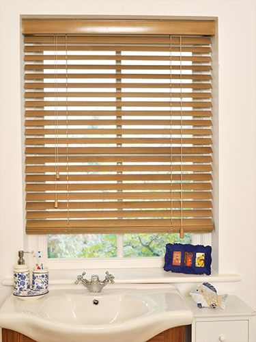 Available in 50mm, 35mm and 25mm slats to give your window a traditional, rustic look. #wooden #venetian #blinds