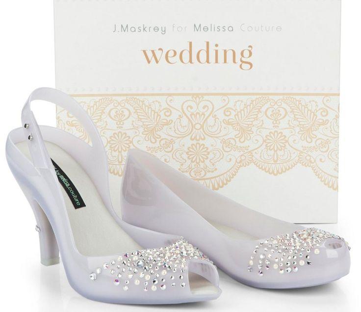 Sandália e sapatilha Melissa para Casar, criados especialmente para noivas usarem no casamento!