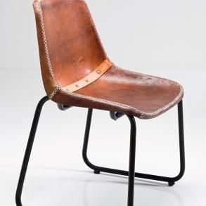 Židle Vintage Brown Leather