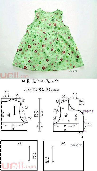 Салатовое платье (рост 80-90 см) | БЕСПЛАТНЫЕ ВЫКРОЙКИ | Шитьё | Постила