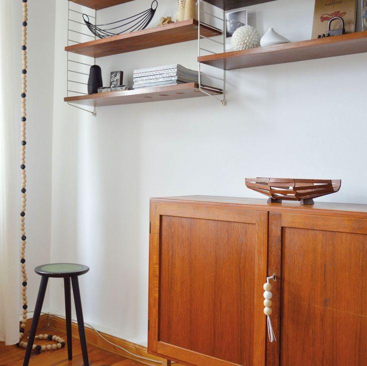 details in my living room #stringshelf #midcentury #teak