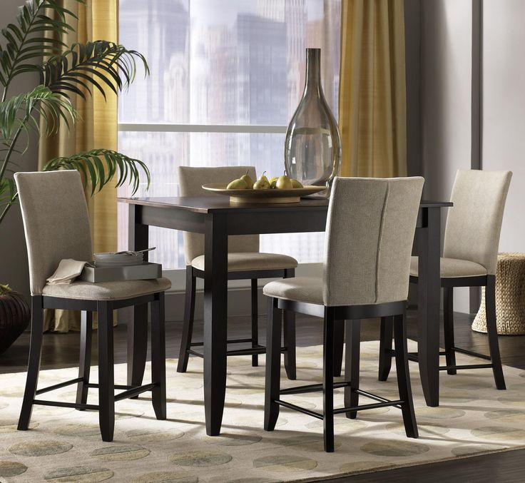 Custom Dining   High Dining Customizable 5 Piece Rectangular Counter Height  Table Set By Canadel   Darvin Furniture   Pub Table And Stool Set Orland  Park, ...