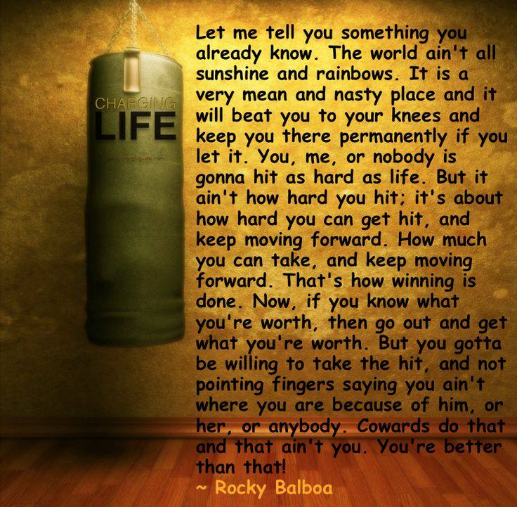 Rocky Balboa Life Is Hard Quote: Rocky Balboa Advice To His Son...