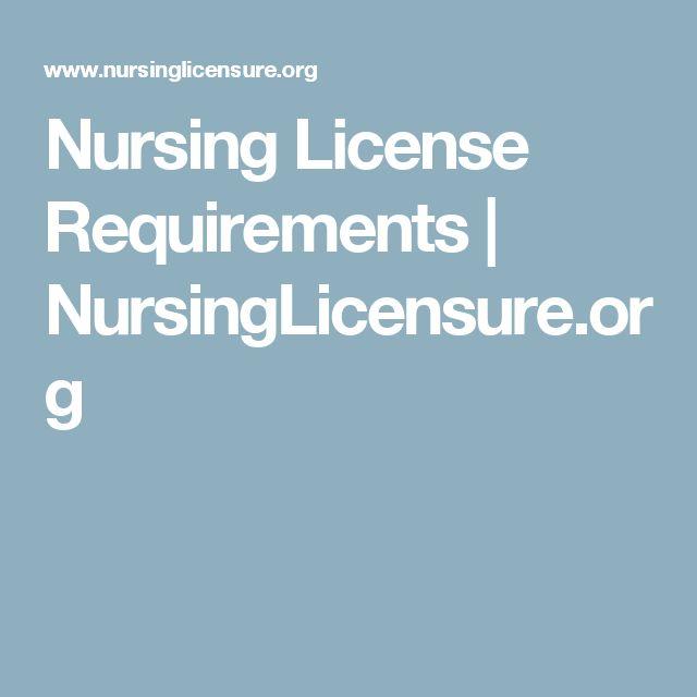 Nursing License Requirements   NursingLicensure.org