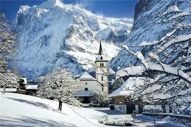 A winter wonderland, had the privilege of a white Christmas in Switzerland