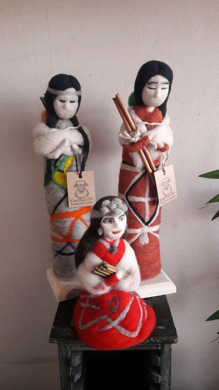 Muñecas de vellon Kimeltufieltro