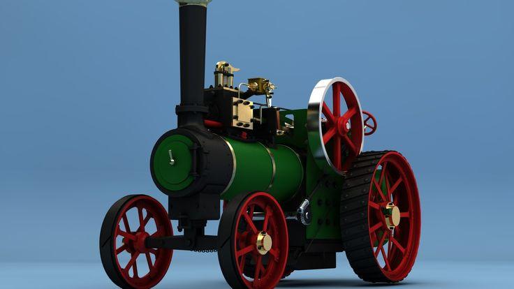 Author: Liubomyr Bodnar (Liubomyr_Bodnar). Description: Steam Tractor MINNIE. Categories: Wizualizacja produktu, Przemysł