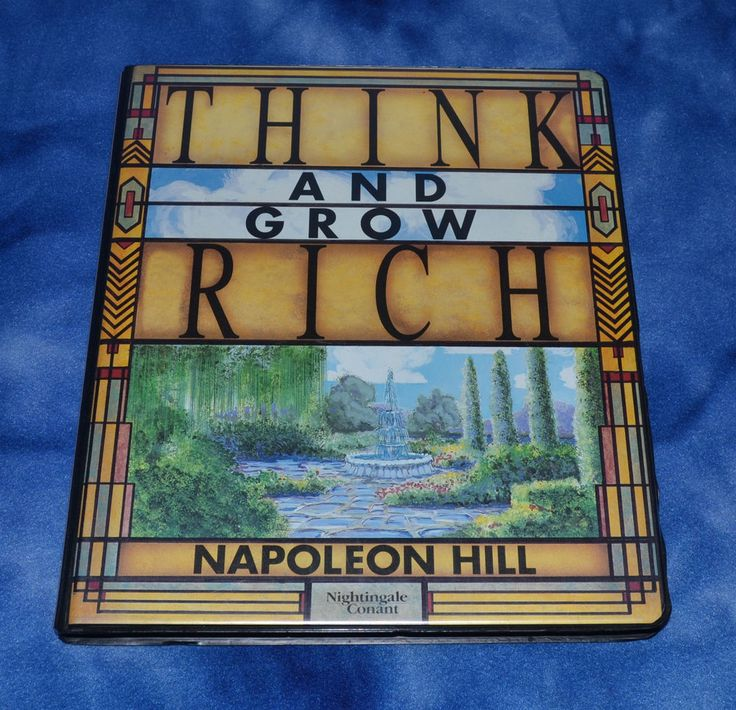 Think and Grow Rich 6 Cassette Set with workbook Napoleon Hill