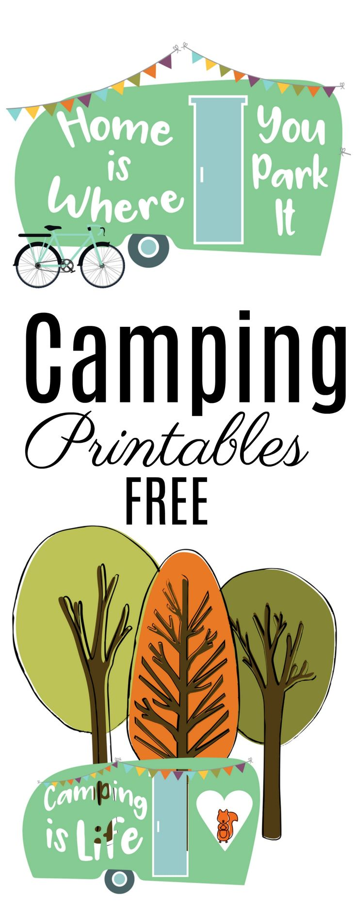 FREE Cute Happy Camper art - Home Pressure Cooking