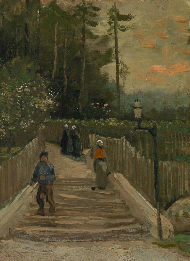 angelart-stuff:  Path in Montmartre(1887)Vincent van Gogh