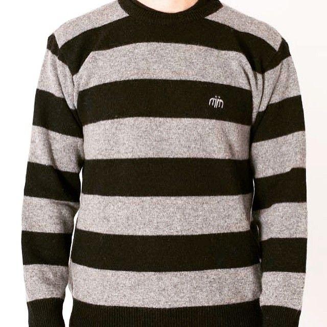 Striped Black & Grey