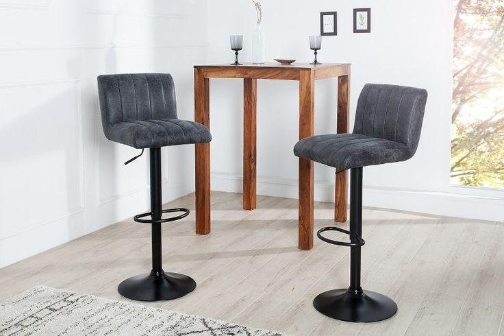 Barová stolička PORTLAND GREY
