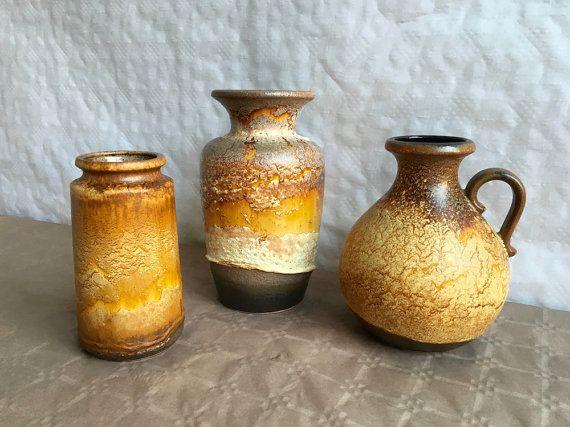 3 Vases Scheurich Haro par RetroVase sur Etsy